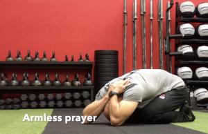 CrossFit CFD Stretch Armless Prayer
