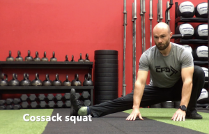 CrossFit CFD Stretch Cossack squat