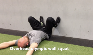 CrossFit CFD Stretch Overhead olympic wall squat