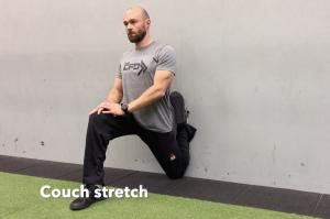 CrossFit CFD Stretch Couch stretch
