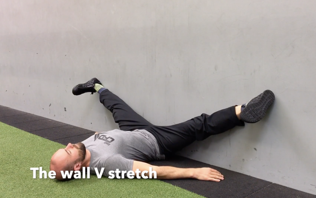 The wall V stretch