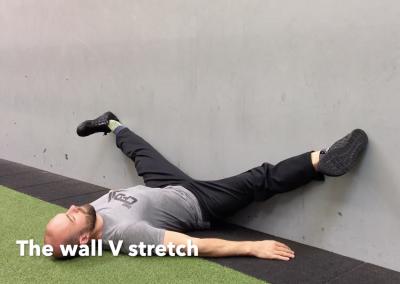 The wall V stretch