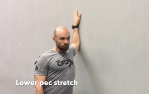CrossFit CFD Stretch Lower Pec Stretch