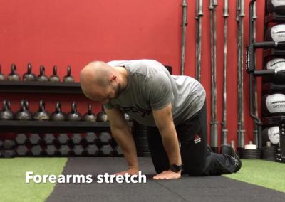 Forearms stretch