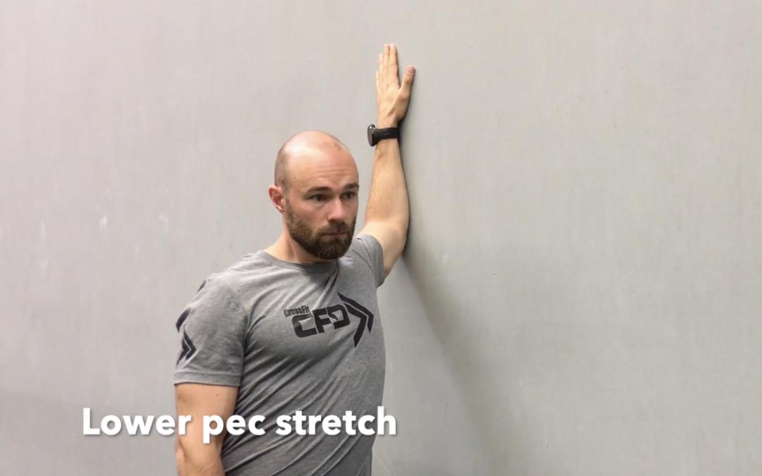 Lower pec stretch